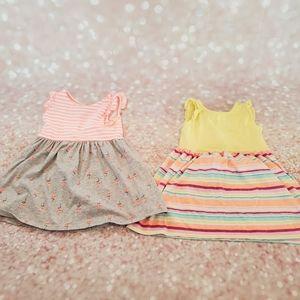 EUC Gymboree Sleeveless Cotton Dress Set 3T